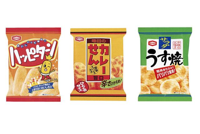 粗品・景品・ノベルティ・記念品の粗品屋本舗 亀田製菓お菓子小袋・3種