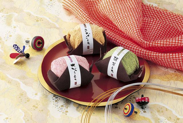 粗品・景品・ノベルティ・記念品の粗品屋本舗 ふんわり和菓子タオル・イメージ画像