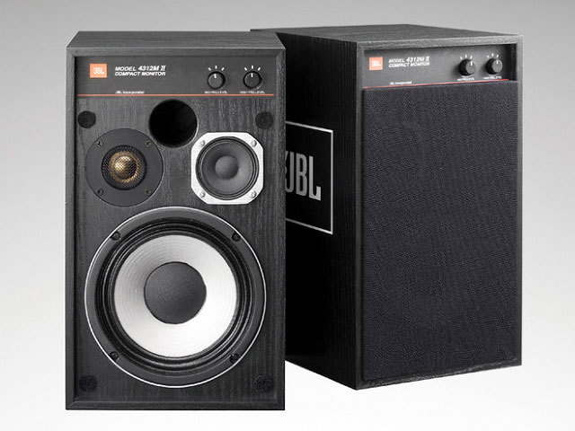 JBL 4312MII (BK) 13.3cm 3Way Compact Monitor スピーカー(ペア)