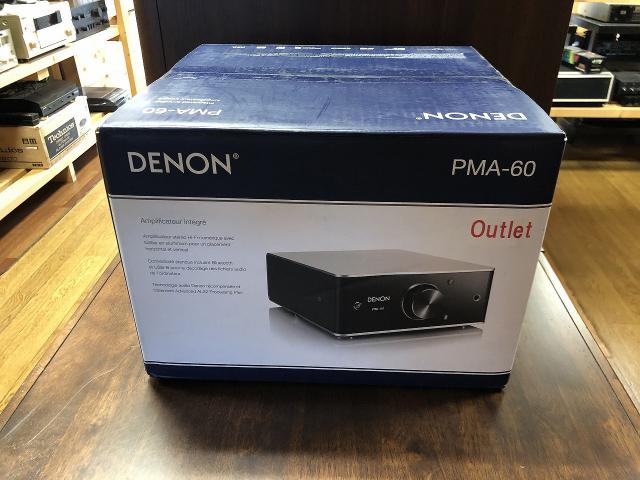アウトレット品 DENON PMA-60 USB-DAC搭載 コンパクトHi-Fiプリメインアンプ メーカー保証1年付き