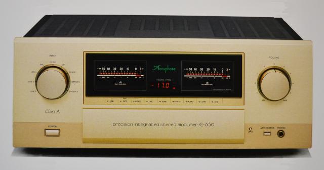 Accuphase(アキュフェーズ) E-650 純A級プレシジョン・インテグレーテッド・ステレオアンプ