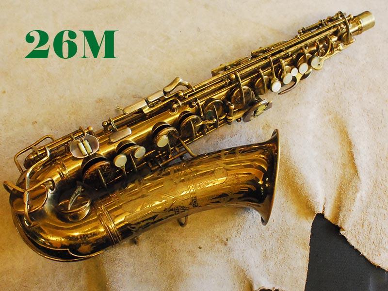 C.G.CONN 26M VIII STAMP オリジナルラッカー 30万番台 Gloger Neck付アルトサックス