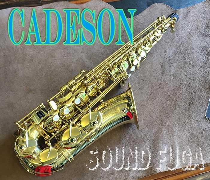 ★Spring Sale★ CADESON A-902Y High-F#キー付 アルトサックス 美品