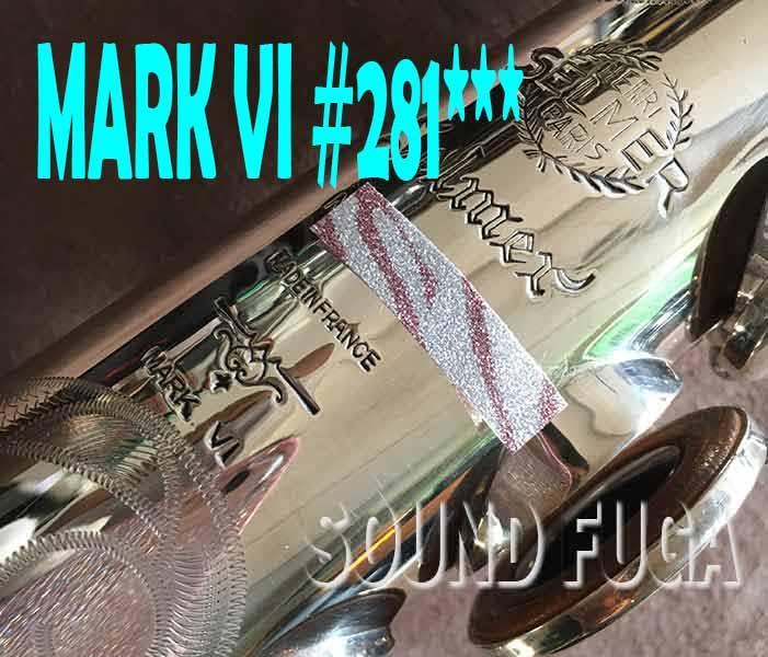 第3弾★祝・令和元年セール★H.SELMER MARK VI 希少 彫刻付き銀メッキ 28万番台 ソプラノサックス