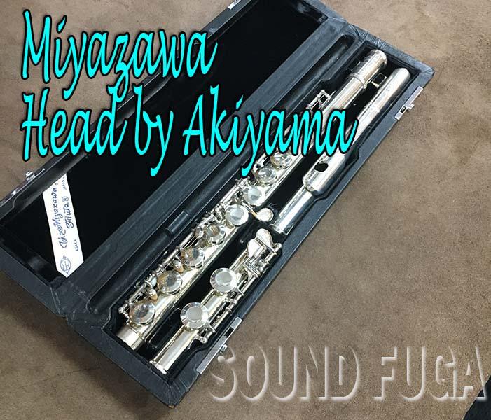 MIYAZAWA FLUTE HEAD by AKIYAMA フルート