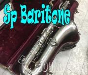 KING OEM? BARITONE Low-A無し 銀メッキ バリトンサックス