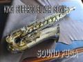KING SUPER 20 SILVER SONIC ゴールドインナー テナーサックス