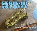 ★新春セール★H.SELMER SERIE-III 彫刻付 67万番台 テナーサックス 良品