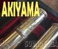 ★セール★AKIYAMA FLUTE オールドシルバー 巻管 リップ14金 アキヤマフルート