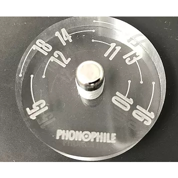 PHONOPHILE PP-A02 オーバーハングゲージ付EP盤アダプター