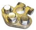 三分岐マルチターミナル GTP-107 大ポール(DIN) (プラス側) 真鍮製 ボルトステンレス仕様