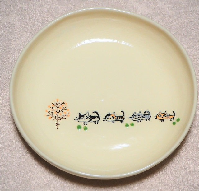 パスタ皿(nekoneko 木ドット)