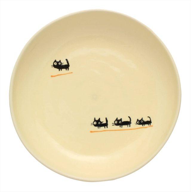 パスタ皿(黒ねこオレンジ)