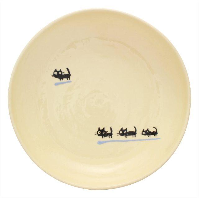 パスタ皿(黒ねこ水色)
