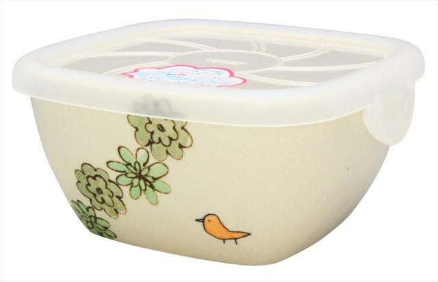 パック小(花と鳥 緑)
