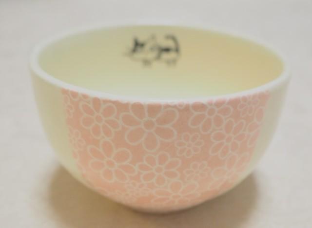 ちゃわん/小鉢(小花ピンク ねこ)