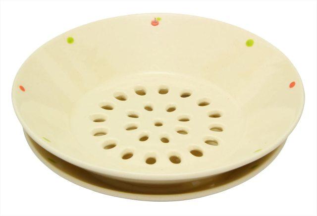 水切皿(りんごドット)