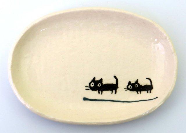 小判皿小(黒ねこグリーン)