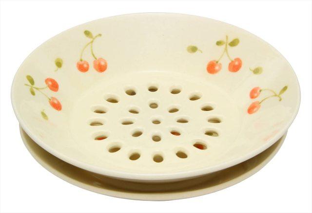 水切皿(さくらんぼ)