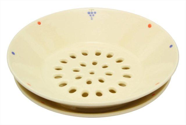 水切皿(ぶどうドット)