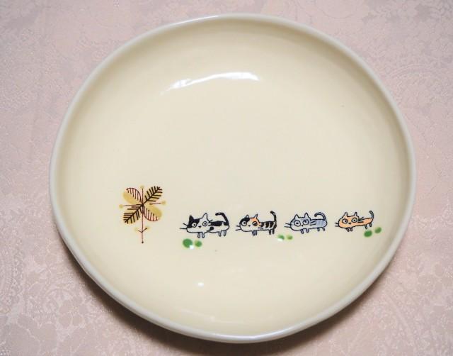 パスタ皿(nekoneko 木四つ葉)