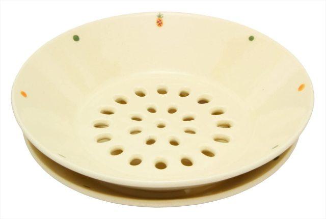 水切皿(パイナップルドット)