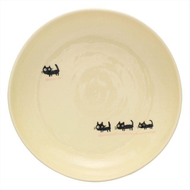パスタ皿(黒ねこピンク)