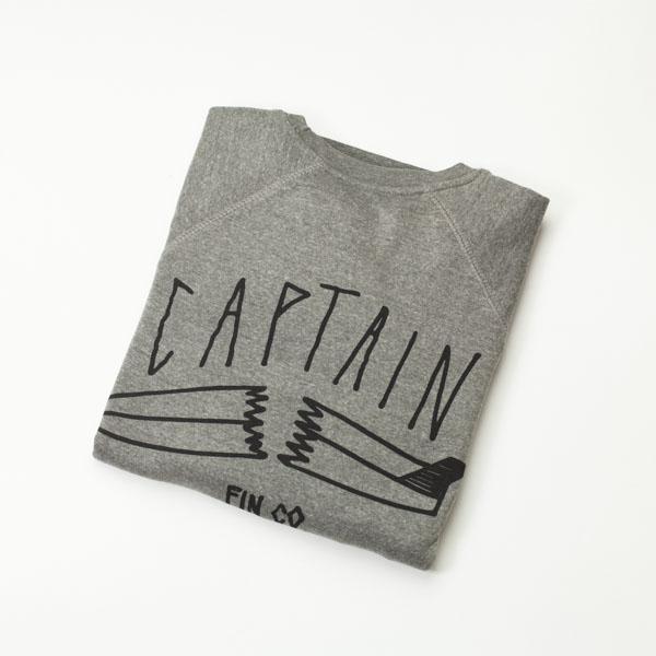 [CAPTAIN FIN Co.] BROKEN CREW  FLEECE