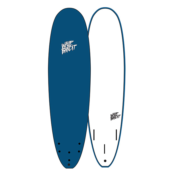 "[WAVE BANDIT]  7'0"" Easy Rider (Tri Fin)BLUESTEEL"