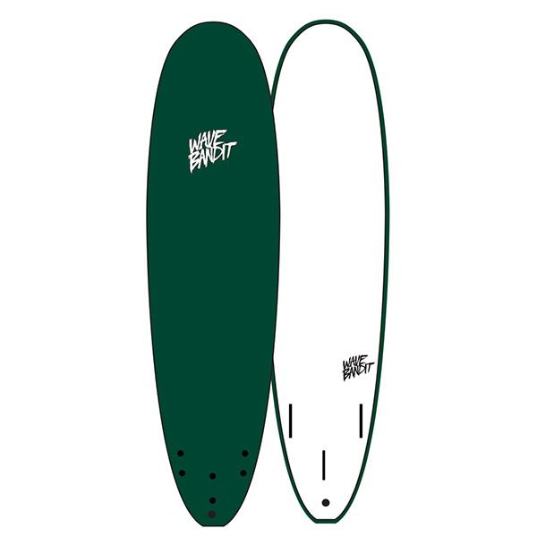 "[WAVE BANDIT]  7'0"" Easy Rider (Tri Fin)MALLARDGREEN"