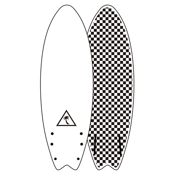 "[CATCH SURF] Heritage series Retro Fish 5'6""- WHITE/CHECKE"