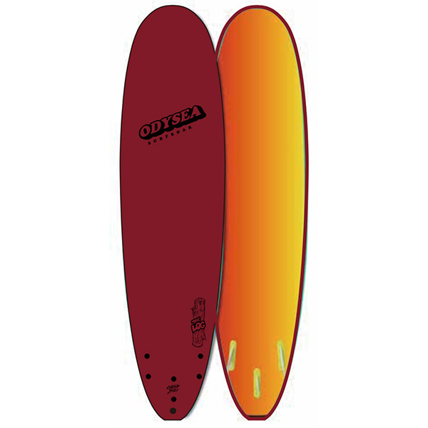 [CATCH SURF] ODYSEA 8.0' LOG-SMU- MAROON/GRADATION