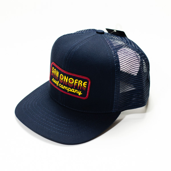 [SAN ONOFRE SURF CO.] BANDIT CANVAS SNAPBACK HAT NAVY