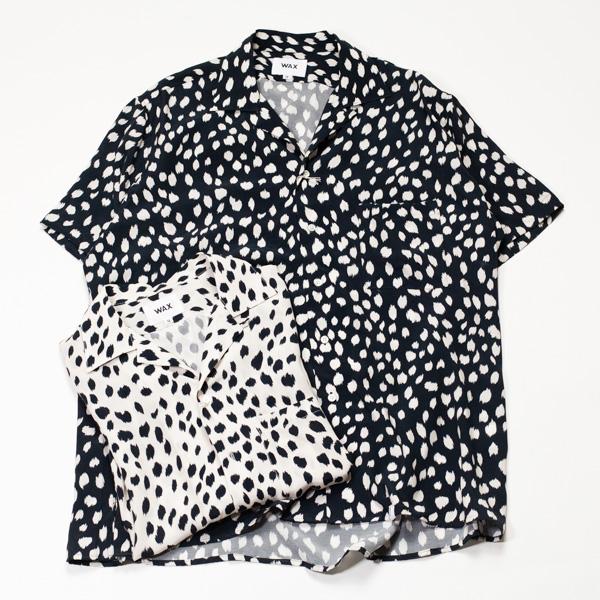 [THE HARD MAN] WAX Animal open coller shirts