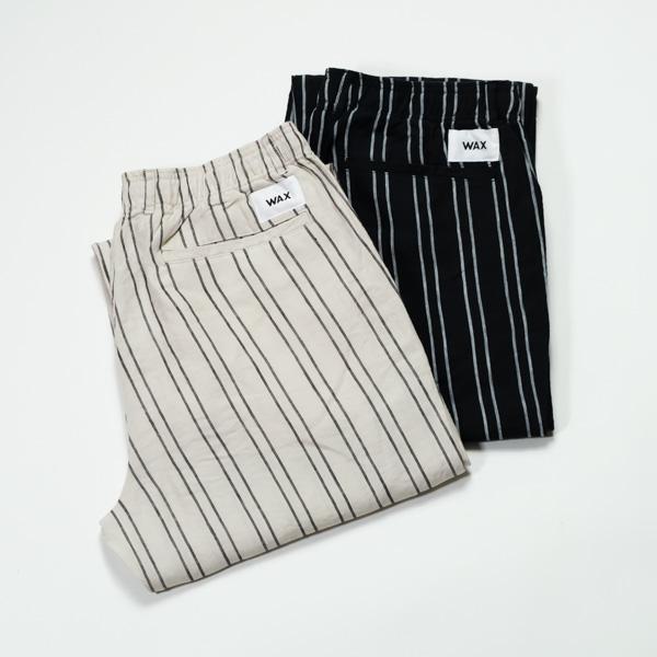 [THM] WAX / Linen stripe easy pants