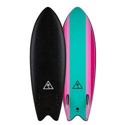 "[CATCH SURF] Heritage series Retro Fish 5'6""- BLACK/TURQUOISE"