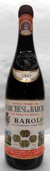 [1967] Barolo【Marchesi di Barolo】バローロ【マルケージ・ディ・バローロ】 750ml
