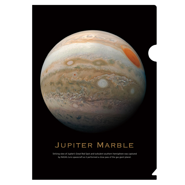 宇宙を探る!天体シリーズ クリアファイル Jupiter marble メイン