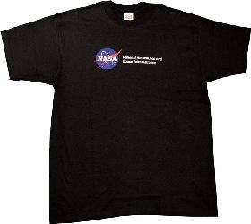 【NASAグッズ】NASATシャツ BLACK (子供用3サイズ/S/M/L/XL)