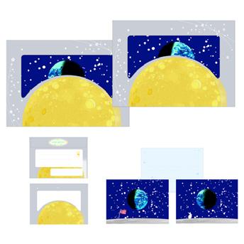 スターパーティーレターセット(月の景色柄)