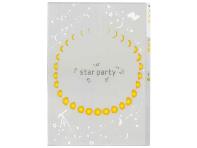 【Star Party Goods】3ポケットクリアフォルダ A4サイズ