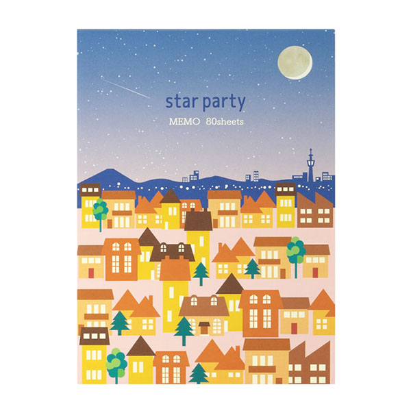 【Star Party Goods】メモ帳(宵の町並柄)