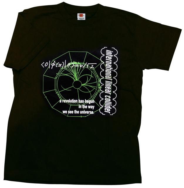 【素粒子物理学グッズ】ILC国際リニアコライダーTシャツ