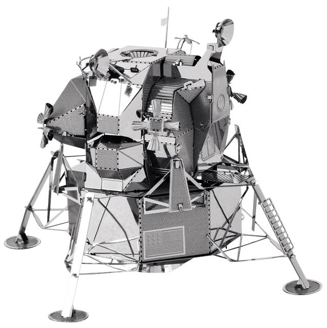 【宇宙グッズ】メタリックナノパズルアポロ月着陸船