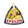 イプシロン4号機 ピンバッヂ 表面