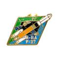 HIIA37号機 ビンバッヂ 表