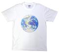 【宇宙グッズ】高橋正実デザイン 地球ビーズTシャツ ホワイト