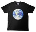【宇宙グッズ】高橋正実デザイン 地球ビーズTシャツ ブラック
