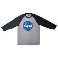 NASAロゴベースボールシャツ ダークグレー メイン