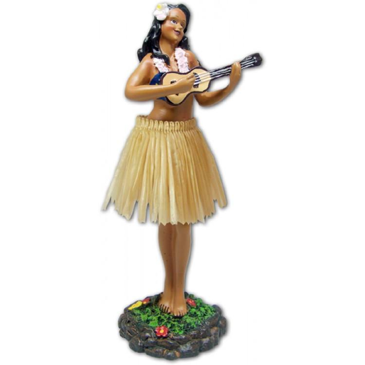 ハワイアンフラガール人形/ウクレレ
